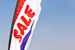Sale flag flying Stock Photo