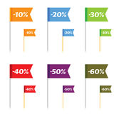 Sale on flags color vector Royalty Free Stock Photos