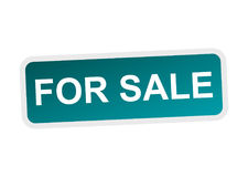 For sale flat vector icon. Pictogram Stock Image