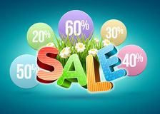 Sale flowers Royalty Free Stock Photos