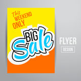 Sale flyer Royalty Free Stock Photography