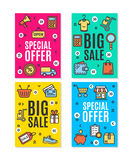 Sale Flyer Banner Posters Card Set. Vector Stock Photography