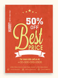 Sale flyer, banner or template. Royalty Free Stock Photos