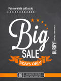 Sale flyer, banner or template. Royalty Free Stock Photo