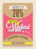 Sale flyer, banner or template design. Stock Images