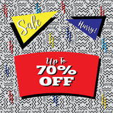 Sale Flyer in Memphis Style Stock Photography