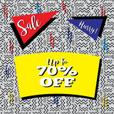 Sale Flyer in Memphis Style Stock Image