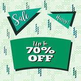 Sale Flyer in Memphis Style Royalty Free Stock Photo