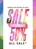 Sale Flyer or Pamphlet. Royalty Free Stock Photography