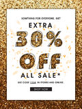 Sale Flyer or Pamphlet. Royalty Free Stock Images