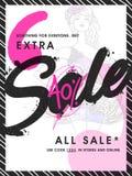 Sale Flyer or Pamphlet. Stock Images