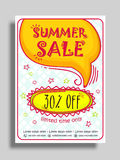 Sale Flyer, Poster or Banner design. Royalty Free Stock Photography