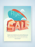 Sale flyer, template or brochure design. Royalty Free Stock Images