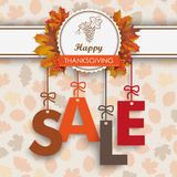 Sale Foliage Thanksgiving Emblem Stock Photography