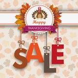 Sale Foliage Thanksgiving Emblem Turkey Stock Photography