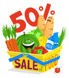 Sale of food Stock Image
