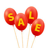 Sale. Four balloons isolated on white background. Vector illustration Stock Images