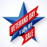Sale för veterandag baner Arkivfoto