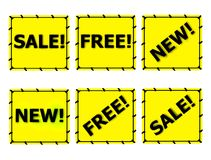 Sale Free New tags labels Royalty Free Stock Images