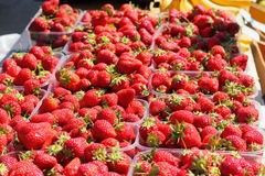 Sale of fresh strawberries Stock Photo