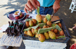 Sale of fruit on the street Royalty Free Stock Photos