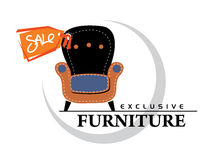 Sale_furniture Lizenzfreie Stockbilder