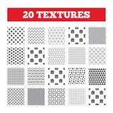 Sale gift box tag icons. Discount symbols. Seamless patterns. Endless textures. Sale gift box tag icons. Discount special offer symbols. 30%, 50%, 70% and 90% Stock Photo