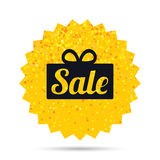 Sale gift sign icon. Special offer symbol. Royalty Free Stock Images