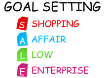 Sale goal setting. Vector illustration Royalty Free Stock Images