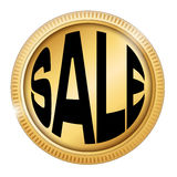 Sale. In a golden coin Royalty Free Stock Photos