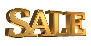 SALE golden 3d rendering metallic isolated Stock Photo