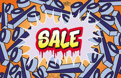 Sale Graffiti Stock Images