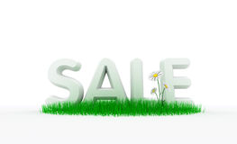 Sale on grass Royalty Free Stock Image