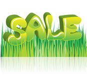 Sale green 3D word Stock Photo