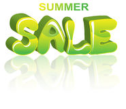 Sale green 3D word Stock Photography
