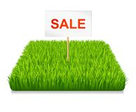 Sale. Green grass Royalty Free Stock Images