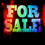 For sale grunge background Stock Photo