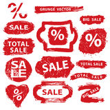 Sale.Grunge Stamps,badges,label,banners set Stock Images