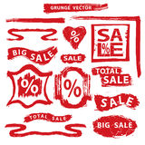 Sale.Grunge Stamps,badges,label,banners set Stock Photo