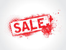 Sale grunge text Royalty Free Stock Photos