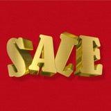 Sale guld- metallbokstäver Fotografering för Bildbyråer