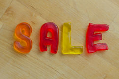 Sale in Gummy Letters Royalty Free Stock Image