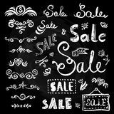 Sale hand drawn lettering Stock Photos