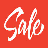 Sale hand inscription Royalty Free Stock Photography