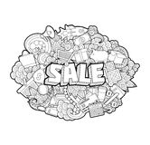 Sale - Hand Lettering and Doodles Elements Sketch. Stock Photography