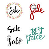 Sale Hand Lettering. Modern Calligraphy. Vector illustration royalty free illustration