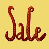 Sale Hand Lettering. Modern Calligraphy. Vector illustration stock illustration
