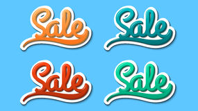 Sale, hand lettering, modern text style, sticker, vector. Sale, hand lettering, modern text style, sticker vector illustration