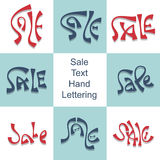 Sale hand lettering set discount price promo text Stock Photography