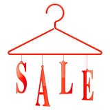 Sale hanger. Stock Photo